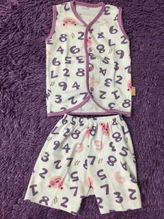 Velvet baju bayi set