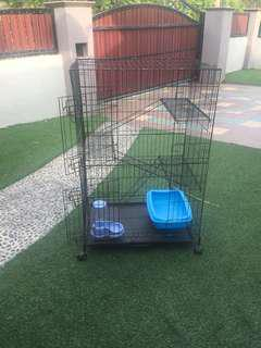 3-storey cat cage with free gifts!