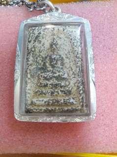 "Prasomdej with  ""Pra Pijit Med Khao Mao"" (silver Casing)"