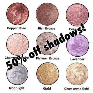 50% of all Eyeshadows'