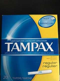 Tampax tampons cardboard applicator