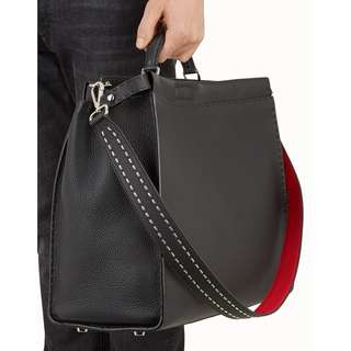 FENDI 'STRAP YOU' Black Calfskin Bag Strap for Men (New)