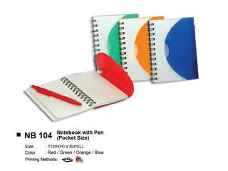 [Wholesale] Notebook with Pen NB104