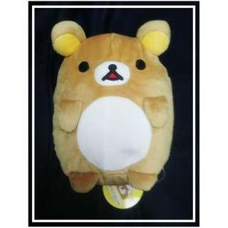 特價景品毛公仔 18cm高 Rilakkuma(鬆馳熊、鬆弛熊、輕鬆小熊、懶懶熊、リラックマ)豆豆Pat pat 企得穩