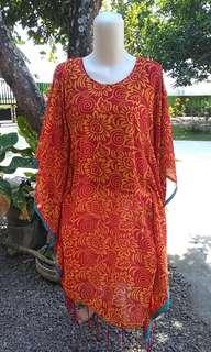 Kaftan motif orange