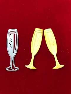 Wine glass #2 scrapbook Cutting Dies