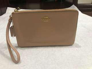 Authentic Coach Double Zip Wristlet