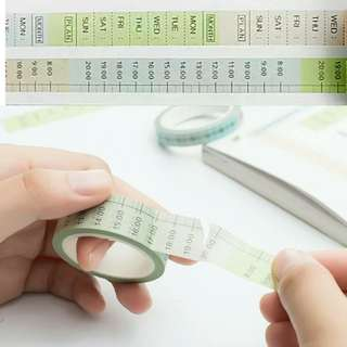 🚚 BN DIY Planner Washi Tape ( Daily / Weekly Plan)
