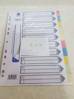 A4 size index dividers