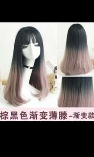 (NO INSTOCKS!) Preorder korean Dip dyed korean ombre two tone ladies wig* waiting time 15 days after payment is made *chat to buy to order
