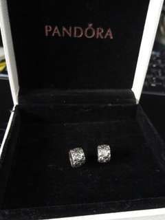 Pandora Flower Burst Clips 1 pair