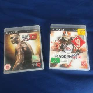 PS3 Games W12 and NFL