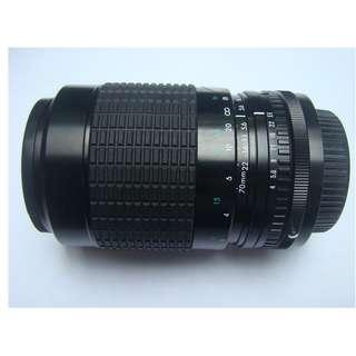 單眼長鏡頭 52mm    f=70-210mm
