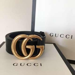Authentic Gucci black leather belt