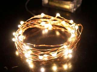 Copper 3M Fairy Light Warm light Battery operated