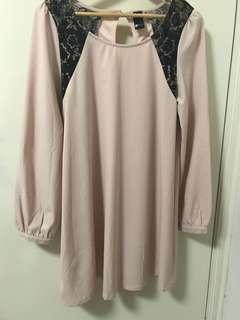 Lace Insert Flare Dress