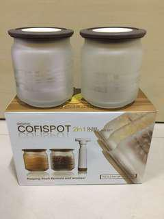 Airtight glass containers 500 ml - $12.00/set or $30 for 3 sets
