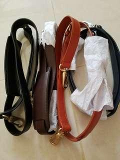 全皮手袋皮帶 (黑,藍,深啡和杏4色)