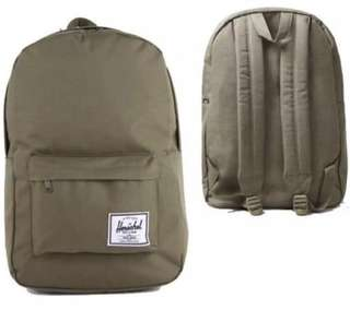 (100% Authentic) Herschel Classic Backpack Olive Green