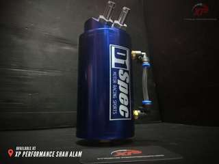 D1 SPEC 0.7L 10mm Round Blue Billet Aluminum Engine Oil Catch Tank Can Reservoir