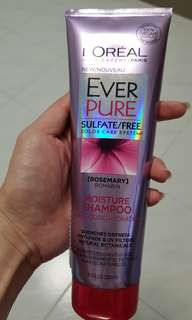 Loreal ever pure sulfate free colour moisture shampoo new