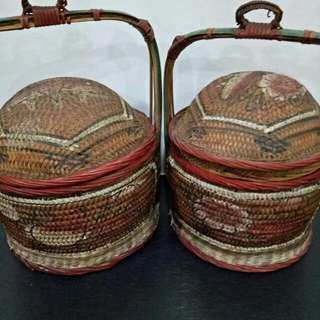Ancient Chinese Vintage Properity Good Luck Basket Holder