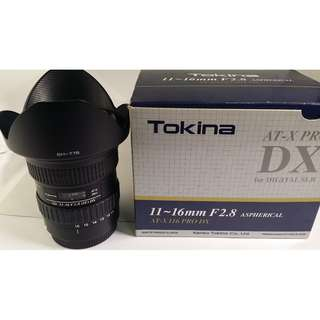 Tokina AT-X 11-16mm F2.8 Pro DX for Canon (CL131)