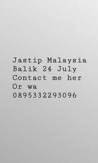 Jastip Malaysia Balik 24 July COD Pasaraya&Kemang