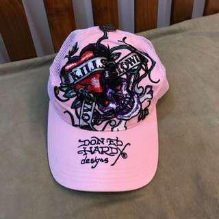ED HARDY粉色經典帽款