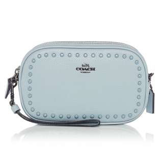 Coach Lacquer Rivets Crossbody Clutch Bag