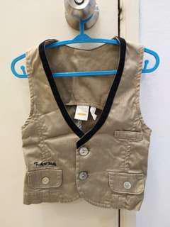Tnudy & Teddy vest for baby boy 1T