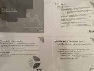 RMIT Strategic Marketing Lecture Notes