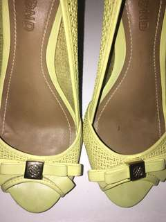 REPRICED Dumond Yellow Leather Sandals