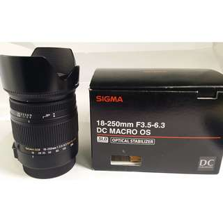 Sigma 18-250mm F3.5-6.3 DC MACRO OS HSM For Canon 公 (CL137)