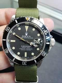 Rolex 16800 matte dial with nato strap