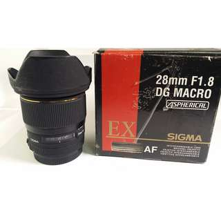 Sigma 28mm F1.8 EX DG Macro For Canon 公 (CL139)