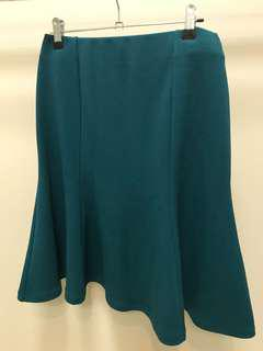 Teal Crepe Country Road Skirt