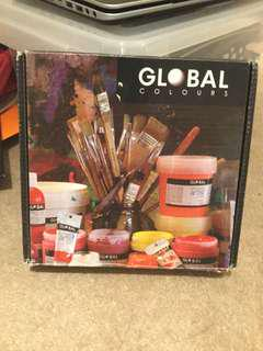 Global colours acrylic paints
