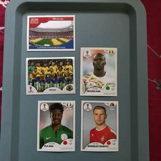 Panini 2018 FIFA World Cup Russia 貼紙