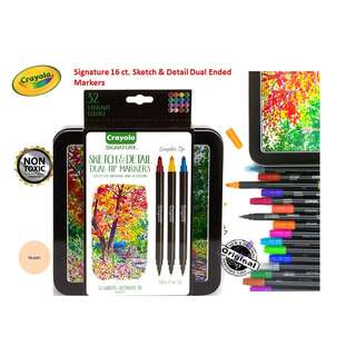 Crayola Signature 16 ct. Sketch & Detail Dual Ended Markers