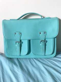 Typo Turquoise Shoulder Bag