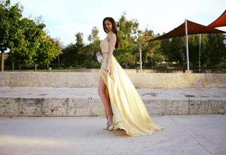 Sherri Hill Gold ball dress