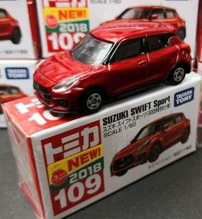 7 月新車 TOMICA Suzuki Swift sports (初回加普通一對)/ 行版