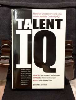 # Highly Recommended《Bran-New Hardcover + Mastering The Effective Skills, Strategy And Leadership In Talents Management》Emmett C. Murphy - TALENT IQ : Identify Your Company's Top Performers, Improve or Remove Underachievers, Boost Productivity and Profit