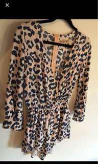 Cheetah Print Playsuit