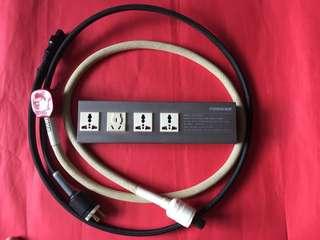 Hi Fi 電源缐及插座:如相片所示