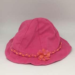 🚚 英國品牌 mothercare 6-12m 桃紅色女嬰帽
