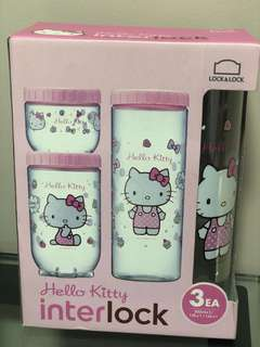 Brand new Lock n Lock Hello Kitty containers