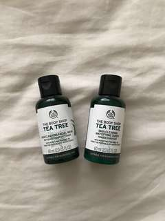 BODY SHOP TONER & FACIAL WASH