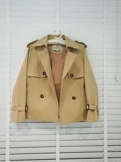 Crop trench coat